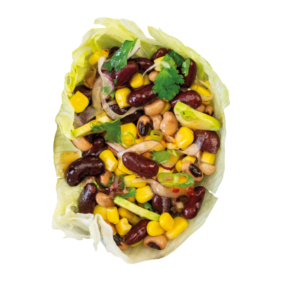 Black Bean and Corn with Avocado and Red Onion